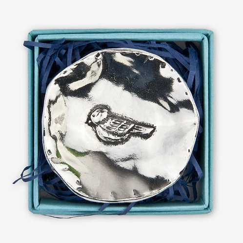 Small Pewter Charm Bowl - Bird