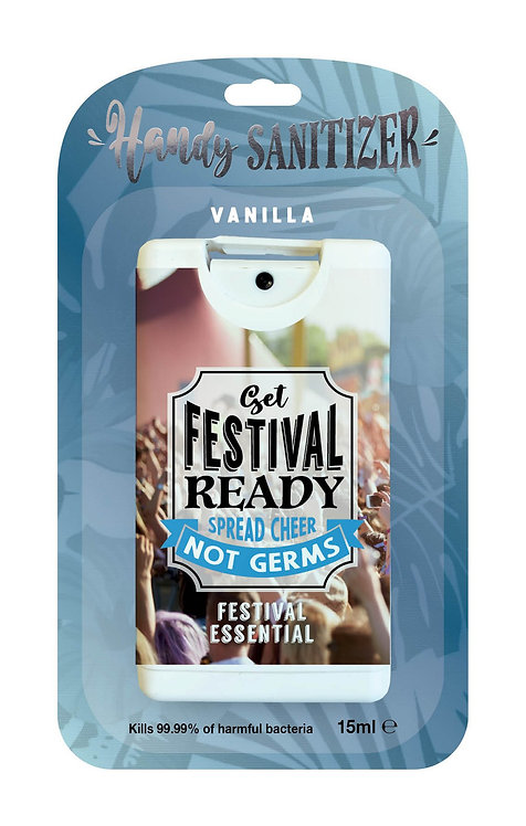 Denim blue rectangular hand sanitizer packet - Festival