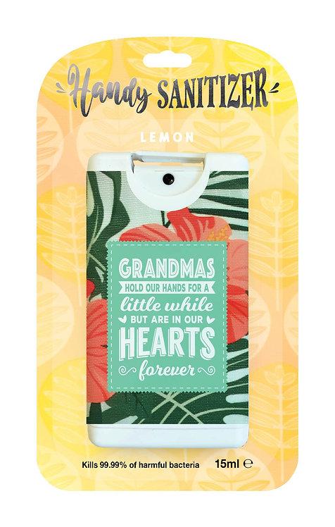 Yellow rectangular hand sanitizer packet - Grandmas