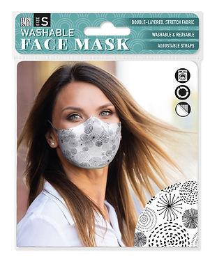 Black Circles Reusable Face Mask