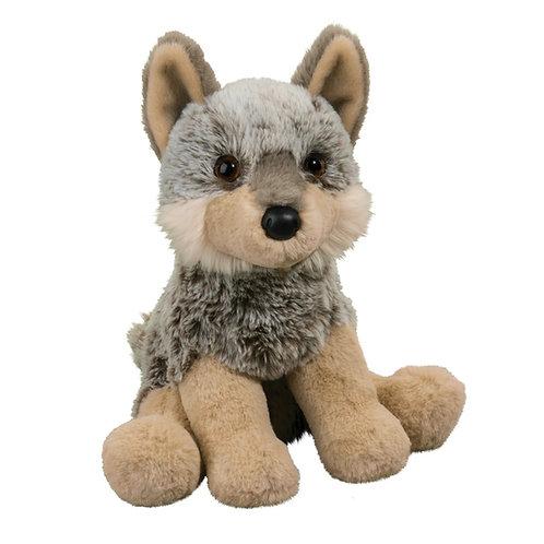 Tan & gray baby wolf stuffed toy