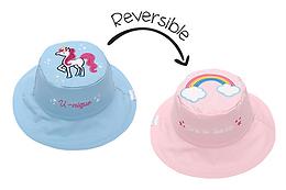2 in 1 Rainbow / Unicorn Reversible Baby & Kid Sun Hat