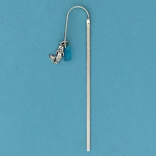 Basic Spirit Pewter Bookmark with mermaid charm