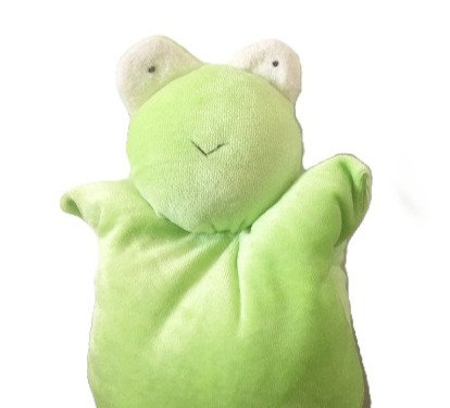 Pale Mint green rudimentary stuffed Frog Toy