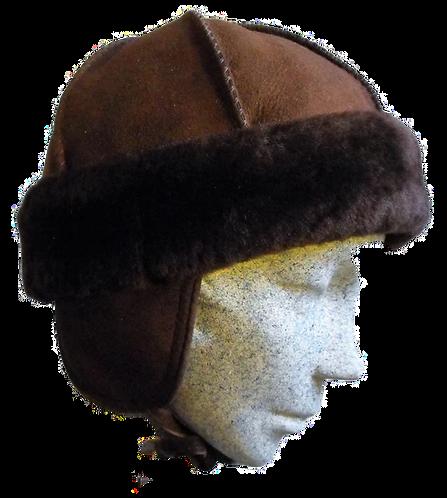 Kids' Sheepskin Hat - Brown