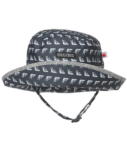 Snug as a Bug Snazzy Snail Sun Hat front view