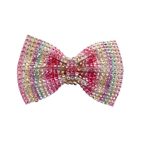 sparkly bow shaped hair clip