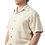 Male modeling cotton shirt-short sleeves-buttons down the front-solid natural cotton