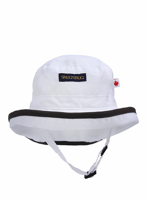 Snug as a Bug Seek And Explore UPF 50+ Sun Hat, white front view