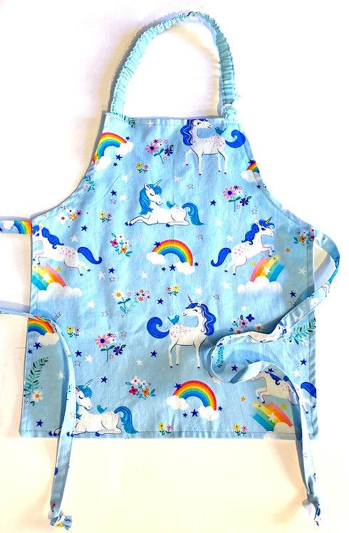 Unicorn Rainbows - Handmade Kid's Apron