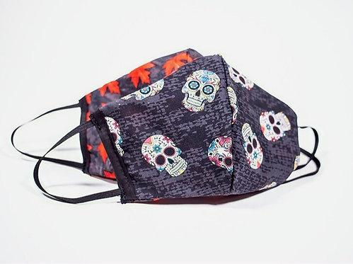 Sugar Skulls Reversible & Reusable Protective Mask