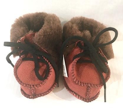 Baby Sheepskin Slippers - Rosso