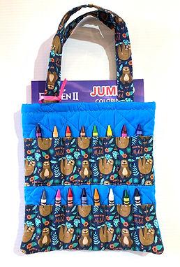 Born to Be Mild Crayon Activity Tote Bag