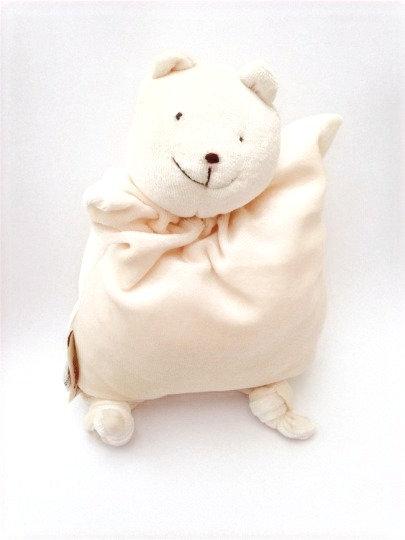 Cream colored rudimentary polar bear stuffed toy