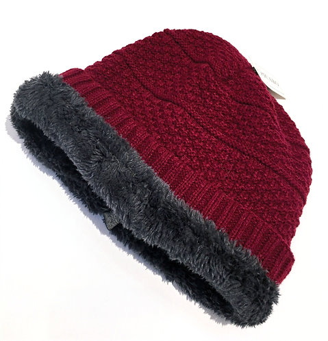 Sherpa Lined Slouch Hats - Basket Weave