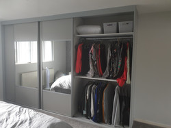 Custom build wardrobe with sliders