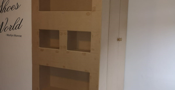 Custom built storage and shelving unit
