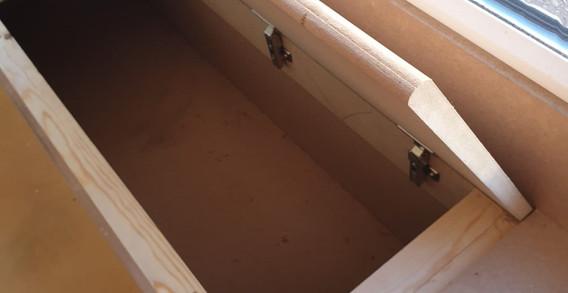 Custom built storage bench