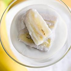 Thai bananas in warm coconut milk