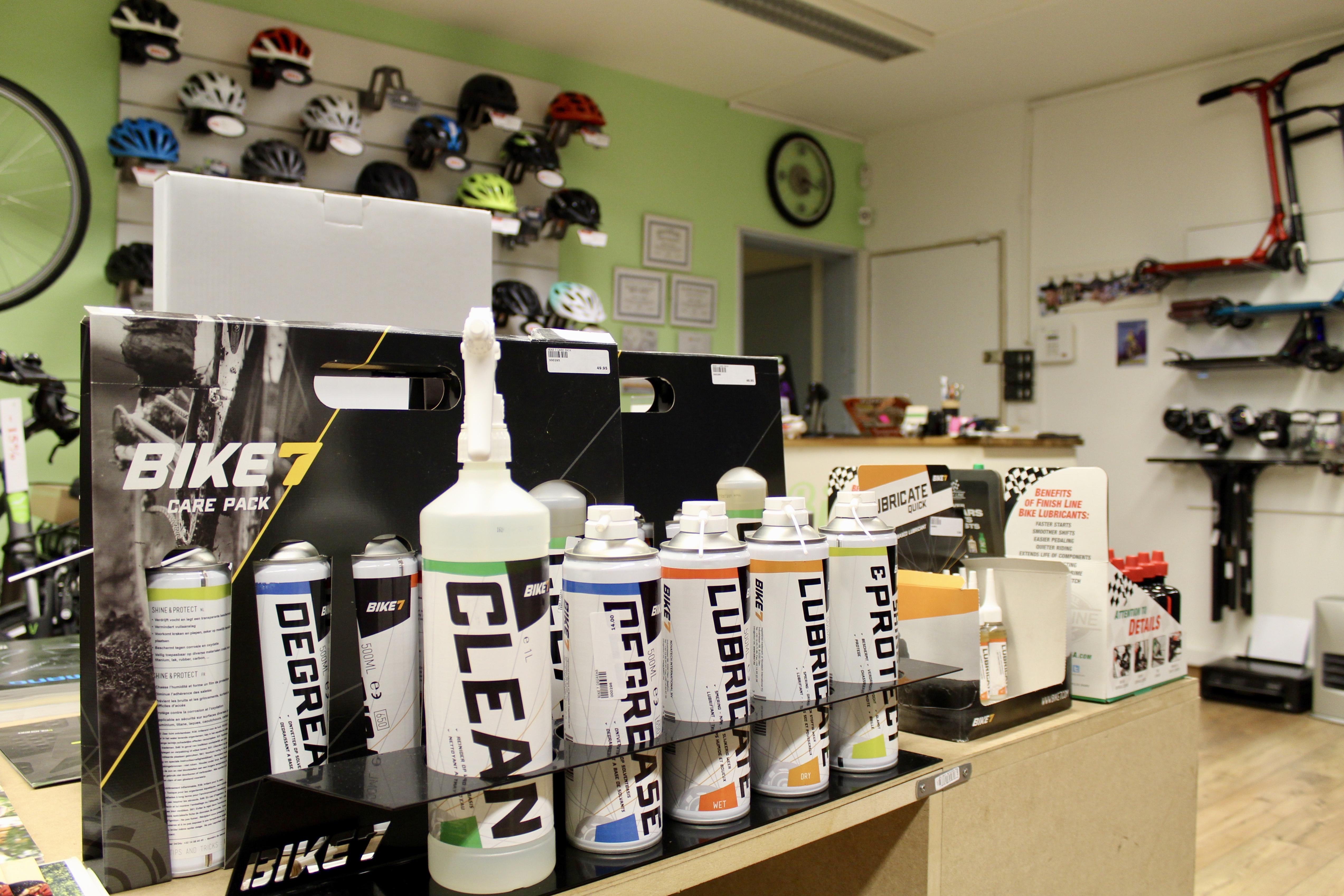 les produits d'entretien Bike7