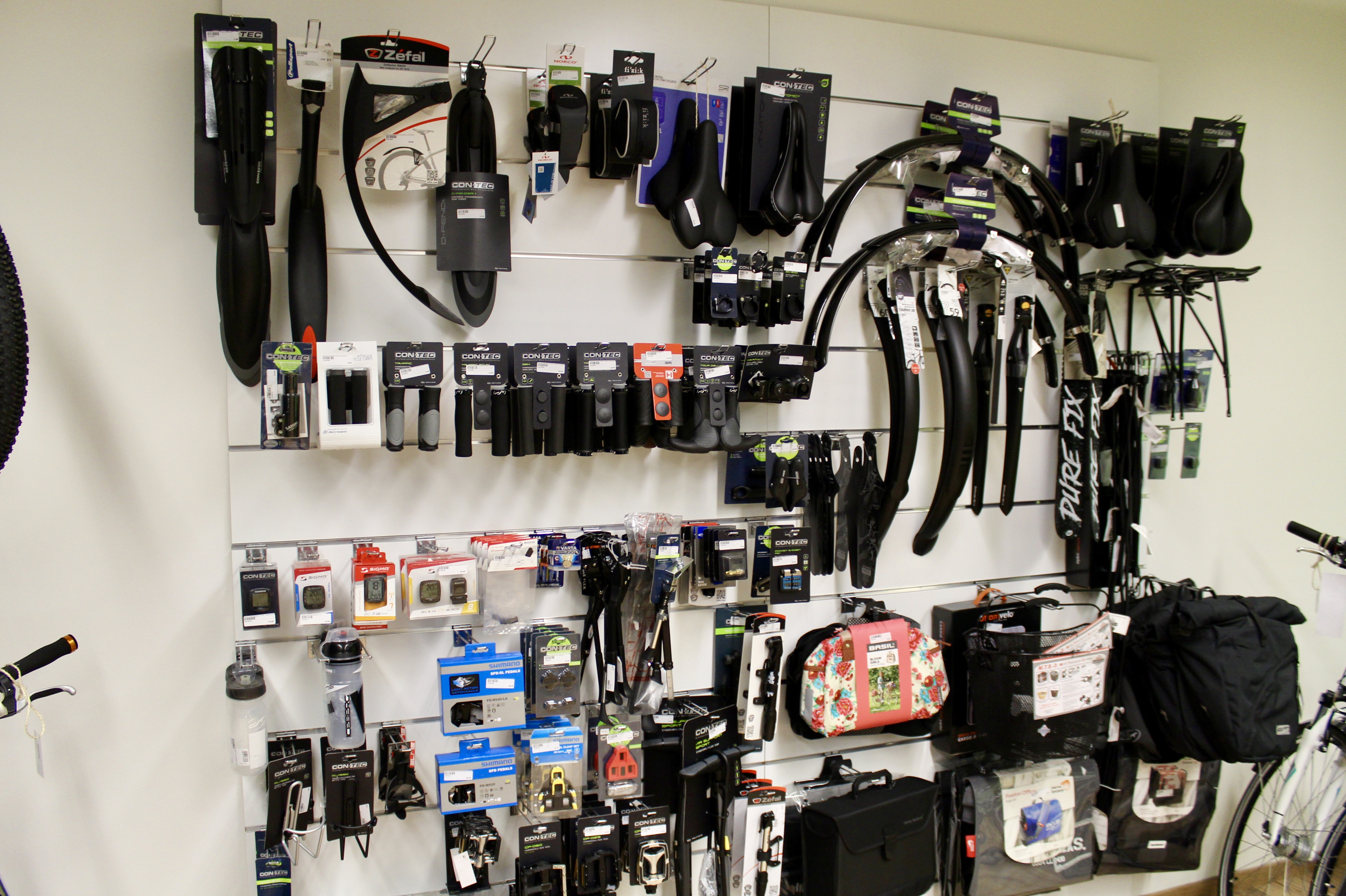 les accessoires de vélo