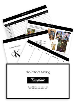 Photoshoot briefing moodboard template