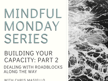 Mindful Monday - Building Your Capacity - Part 2 - Dealing with Roadblocks Along the Way