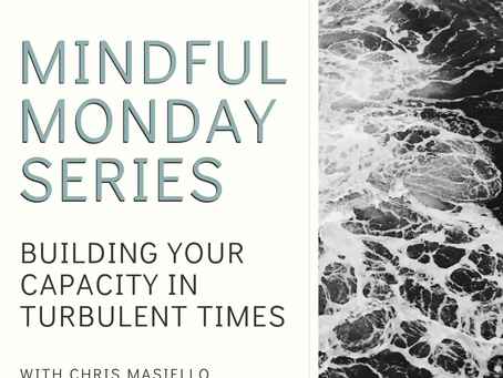 Mindful Monday - Building Your Capacity in Turbulent Times