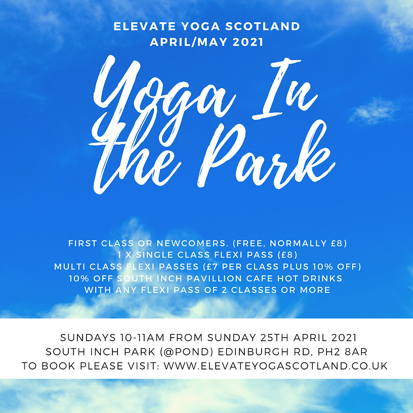 Yoga in the Park April May Timetable (1)