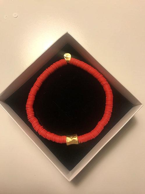 Venüs Kırmızı -Gold Halhal