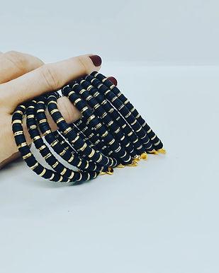 Venüs Siyah-Gold Bileklik