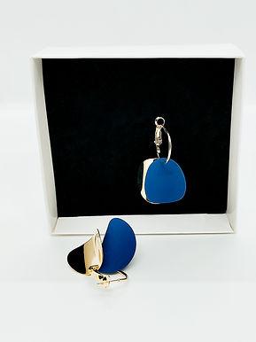 Gold-Mavi Küpe