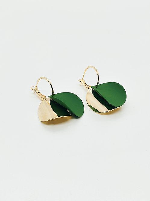 Gold-Yeşil Küpe