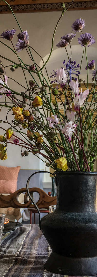 Living room flowers