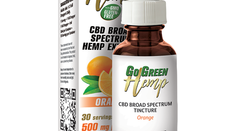 BeautiesByte Hemp CBD Premium Orange Oil Drops