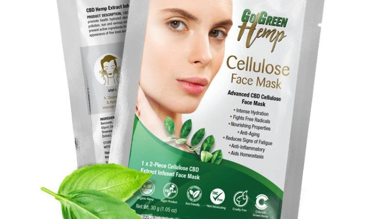 BeautiesByte Hemp Cellulose CBD Face Mask