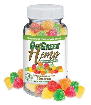 BeautiesByte Hemp CBD 10mg Vegan Sour Gummy Drops