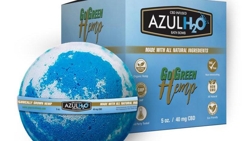 BeautiesByte Hemp CBD Bath Bombs Azul H20 40mg