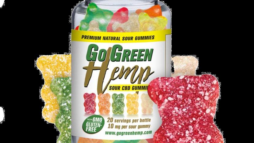 BeautiesByte Hemp CBD 10mg Sour Gummy Bears