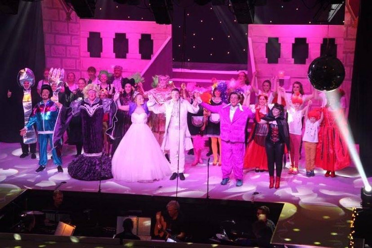 Largs Players Cast  Beauty Beast Panto