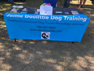 Dog Training booth at Justin Bartlett Animal Rescue Woofstock 2017