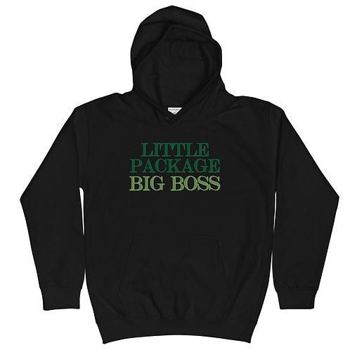 Little Package, BIG Boss Kids Hoodie