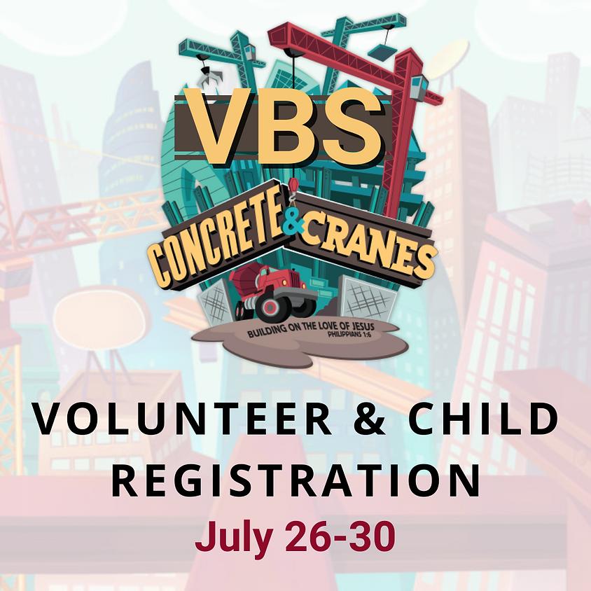 VBS Volunteer and Child Registration