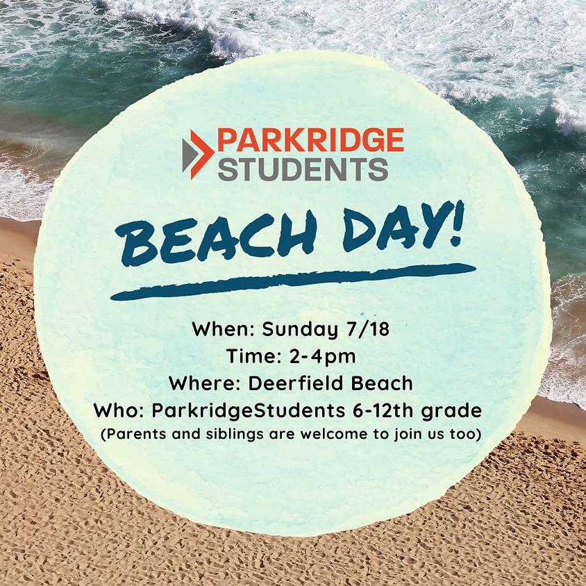 Parkridge Students Beach Day!