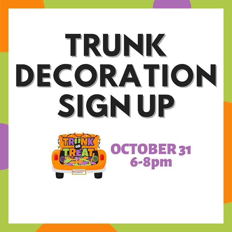 TRUNK Decoration Sign Up