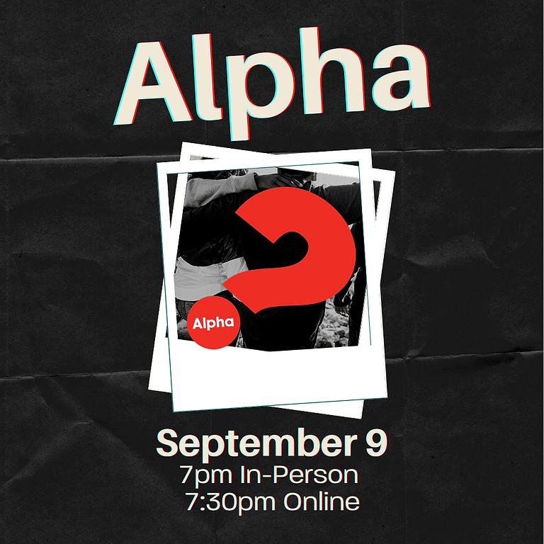 Alpha - Registration is still open!