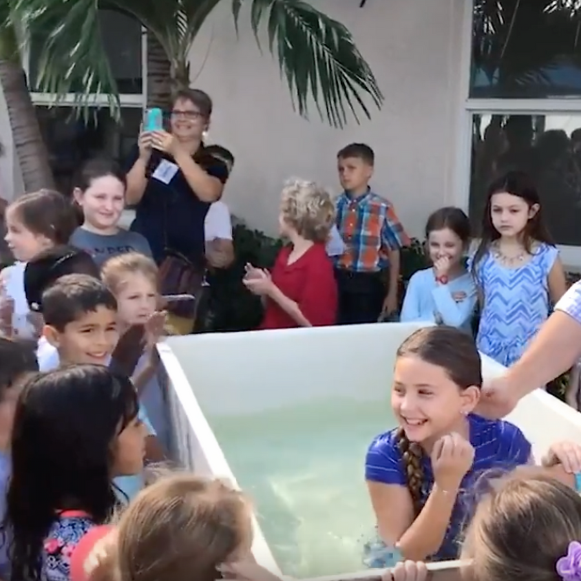 Patio Baptism