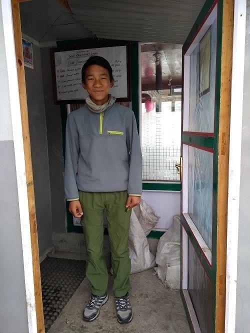 One of Purba Tashi Sherpa's twin sons Finjo Sonam Sherpa