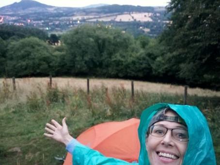 Camping, Riding Sugarloaf Mountain & Bike Park Wales
