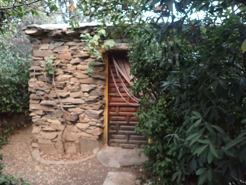 Stone building where I slept